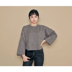 HOTPING - Round-Neck 3/4-Sleeve Top