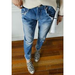 REDOPIN - Distressed Blue Jeans