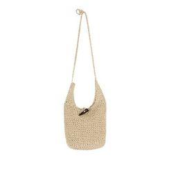 DABAGIRL - Toggle-Button Woven Hobo Bag