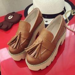 Lutin - Tassel Platform Loafers