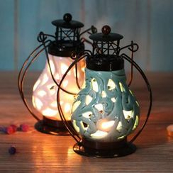 Retro Times - Desk Candle Lantern