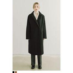 QQQQ - Single-Breasted Wool Blend Coat