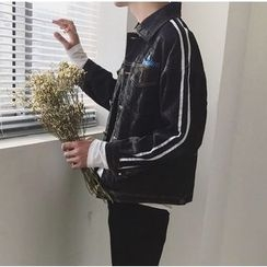 優凡士品 - 條紋牛仔夾克