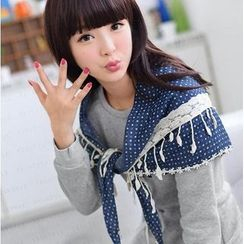 59 Seconds - Lace Panel Dotted Scarf
