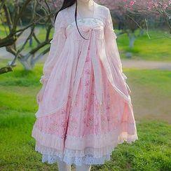 Rega - Long-Sleeve Pleated Midi Dress