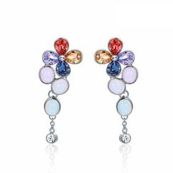 Italina - Swarovski Elements Crystal Flower Earrings