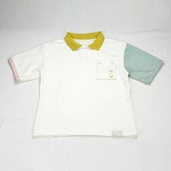 HANIA - Embroidered Short-Sleeve Polo Shirt