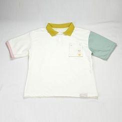 HANIA - 短袖刺绣马球衫