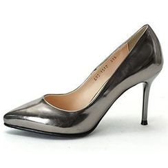 MODELSIS - Faux-Leather High-Heels