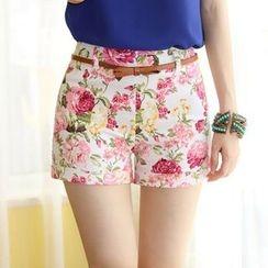 Hyoty - Floral Print Shorts