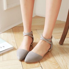 Pretty in Boots - Strapped Flats