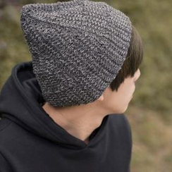 SeventyAge - Contrast Knit Beanie