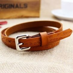 Coco Rush - Embossed Genuine Leather Belt