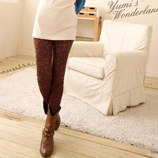 Leopard-Print Knit Leggings