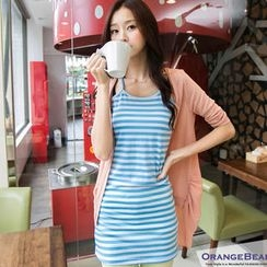 OrangeBear - Striped Racerback Long Camisole