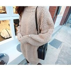 MARSHMALLOW - Round-Neck Knit Sweater