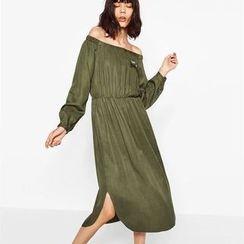Chicsense - Off-Shoulder Maxi Dress