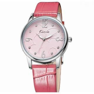 Miss Girl - Rhinestone Genuine-Leather Strap Watch