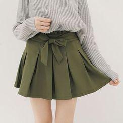 Tokyo Fashion - Bow Waist Pleated Skirt