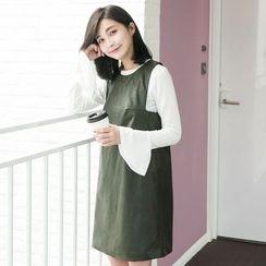 Tokyo Fashion - Faux-Leather Sleeveless Dress