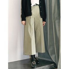 FROMBEGINNING - Wide-Leg Cropped Pants