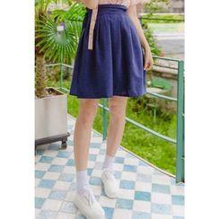 Dalkong - Short Pleated Hanbok Skirt