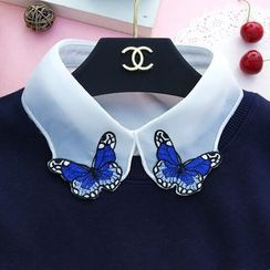 Eustacia - Butterfly Embroidered Chiffon Decorative Collar
