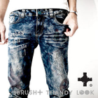 SERUSH - Printed Elasticized Jeans