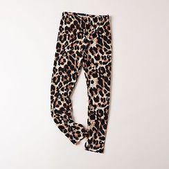 Kidora - 儿童豹纹长裤