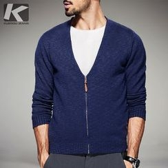 Quincy King - Mock Two Piece V-Neck Cardigan