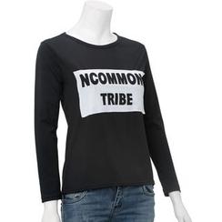 QZ Lady - Long-Sleeve Lettering T-Shirt