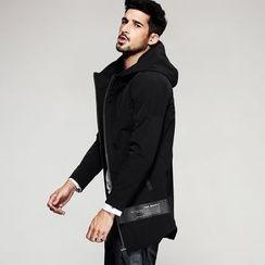 Quincy King - Hooded Zip Long Jacket