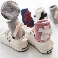 Spring Swallow - Kids Bow-Accent Socks