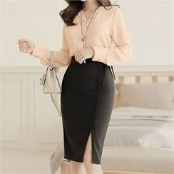 CHICLINE - V-Neck Chiffon Blouse