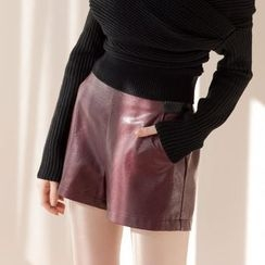 Tokyo Fashion - Faux Leather Shorts