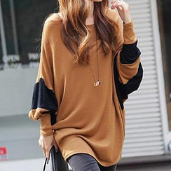 Dream Girl - Long-Sleeve Color-Block Top