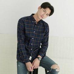 Seoul Homme - Button-Down Check Shirt