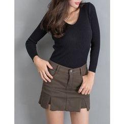 GUMZZI - Cotton Distressed Skirt