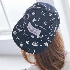 BAIMOMO - 塗鴉字母拼接棒球帽