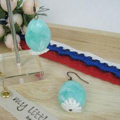MyLittleThing - Elegant Lace Bead Earrings(green)