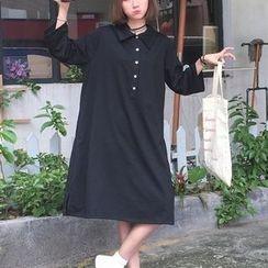 Lyrae - 3/4-Sleeve Polo Dress