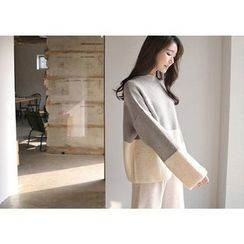 Hello sweety - Crew-Neck Color-Block Sweater