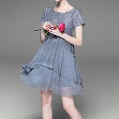 Alaroo - Layered Short-Sleeve Dress