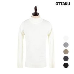 Seoul Homme - Mock-Neck Knit Top