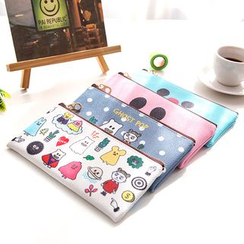 OH.LEELY - Cartoon Faux Leather Pencil Case
