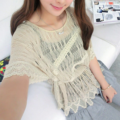 SO Central - Crochet open knit top