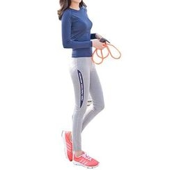 YUBE - Set: Long-Sleeve Sport T-Shirt + Yoga Pants