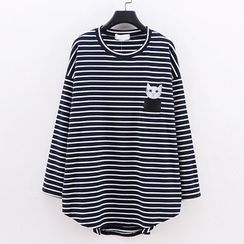 Tulander - Long-Sleeve Striped T-Shirt