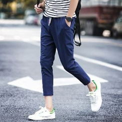 Romantica - Drawstring Cropped Slim-Fit Tapered Pants
