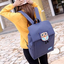Bagolo - Owl-Applique Nylon Backpack